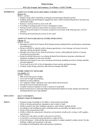 Download Store Assistant Manager Resume Sample As Image File