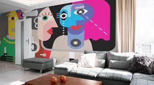 living room wall murals eazywallz