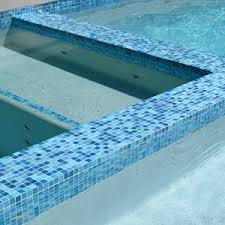 swimming pool mosaic tiles in ceramic glass also waterline and