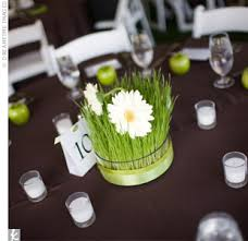 This Seems Spring And Would Be Fairly Easy To Make If I Grew Lemongrass It Simple Wedding CenterpiecesWedding Reception TablesWedding