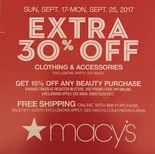 Macy's - Upcoming 15% Off Beauty Purchases (Code Is VIP ... Macys Promo Code For 30 Off November 2019 Lets You Go Shopping Till Drop Coupon Printable Coupons Db 2016 App Additional Savings New Customers 25 Off Promotional Codes Find In Store The Vitiman Shop Gettington Joshs Frogs Coupon Code Newlywed Discount Promo Save On Weighted Blankets Luggage Online Dell Everything Need To Know About Astro Gaming Grp Fly Discount