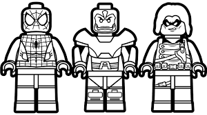 Lego Spiderman Vs Apocalypse Wasp Coloring Book Pages Kids Fun Art