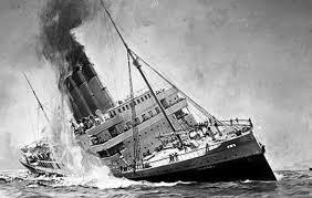 15 titanic lusitania and britannic sinking the britannic by