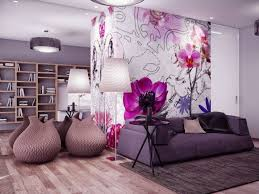 Grey And Purple Living Room Wallpaper by Interior Wonderful Purple Living Room Accessories Stunning