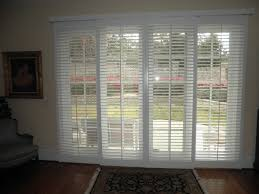 French Patio Doors With Built In Blinds by White Stained Wooden Sliding Patio Glass Door Built In Shutter