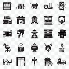 100 Trucks Paper Set Of 25 Transparent Icons Such As Printer Maps