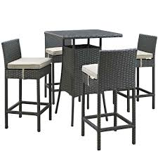 5 Piece Bar Height Patio Dining Set by Outdoor Sets