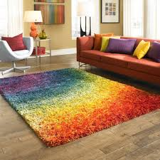 Spice up any room in your home with this multicolored rainbow rug