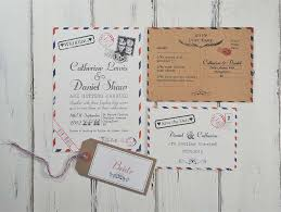 Airmail Style Wedding Invitations