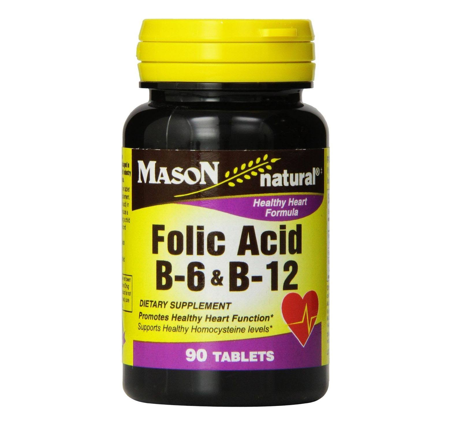 Mason Vitamins Natural Folic Acid Dietary Supplement - 100 Tablets