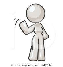 Royalty Free RF Waving Clipart Illustration by Leo Blanchette