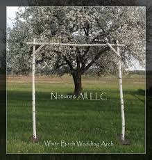 White Birch Wedding Arch Arbor Complete Kit For Indoor Or Outdoor Weddings Rustic Backdrop Shipping Included