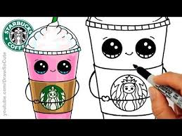 How To Draw A Starbucks Frappuccino Cute Step By Cartoon Drink