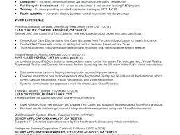 Software Testing Sample Resume Plain Decoration Manual Tester Format Luxury