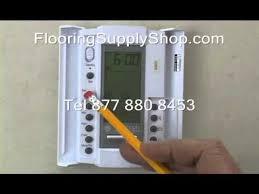 suntouch floorstat 500650 programing 120 volt youtube