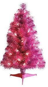 Pink Tree St Nicholas Square Pre Lit 2 Foot Tabletop Christmas