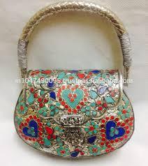 latest red clutch ladies metal bag buy indian metal clutch bags