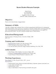 Rn Resume Objective Sample Nurses Emergency Room Nurse Example Nursing Pacu