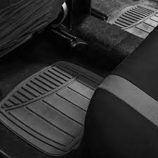 BESTFH: Rubber Floor Mats All Weather With Beige Trunk Mat For Auto ...
