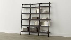 sawyer mocha leaning 24 5 bookcases set of three crate and barrel