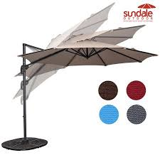 Patio Umbrellas Walmart Usa by Sundale Outdoor 10ft Hanging Roma Offset Umbrella Outdoor Patio