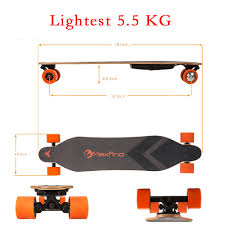Maxfind World's Lightest Dual Motors Remote Electric Skateboard ...