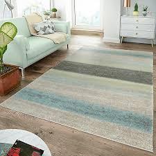 moderner teppich wohnzimmer teppiche breite streifen pastell