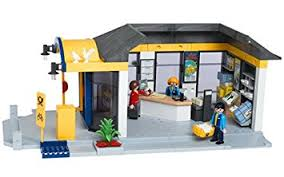 les bureaux de poste playmobil 4400 les commerçants bureau de poste amazon fr