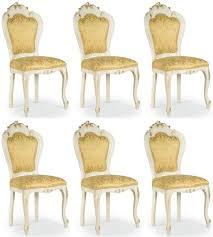 casa padrino luxus barock esszimmer stuhl set gold weiß gold 50 x 50 x h 103 cm barock küchen stühle 6er set esszimmer möbel im barockstil