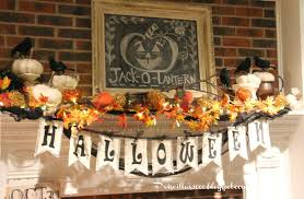 Halloween Fireplace Mantel Scarf by Priscillas Halloween Mantel 2014