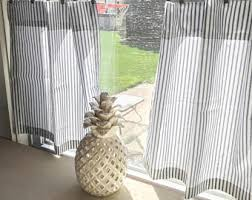 Navy And White Striped Curtains Canada by Ticking Curtains Etsy