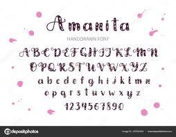 Imágenes Diferentes Tipos De Letras Fuente Handdrawn Vector