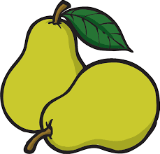 Pear Clip Art Image Black And White Free Download