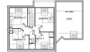 plan maison 4 chambres etage plan maison etage 4 chambres gratuit plan maison t with