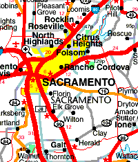 Map Of California Road USA