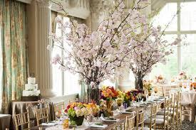 Cherry Blossom Centerpieces Rustic Wedding Gay Seasonal Arrangemnets