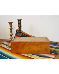 Fine Woodworking Jewelry Box Handmade Wood Keepsake Chest Vintage