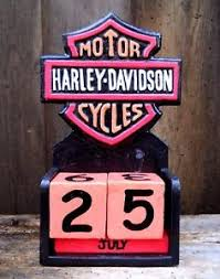 Image Is Loading Colourful Wooden Perpetual Calendar MOTOR HARLEY DAVIDSON CYCLES