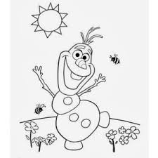 Craft Time Olaf s Summer Coloring Page