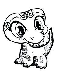 Cute Baby Animals Colouring Pages Coloring Kids Cartoon Animal Dragoart Full Size
