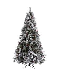 7ft Fibre Optic Christmas Tree by Bavarian Pine Christmas Tree With Snow 7ft Christmas Tree