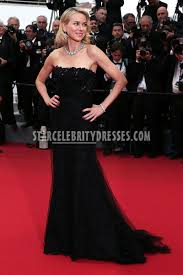 naomi watts black lace strapless formal evening gown cannes 2015