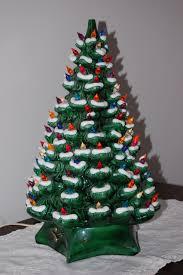 Flocking Christmas Tree Kit by Vintage Large Ceramic Christmas Tree Lighted Holland Mold Snow