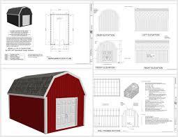10 X 16 Shed Plans Gambrel by G484 12 X 20 Gambrel Barn Plans Sds Plans