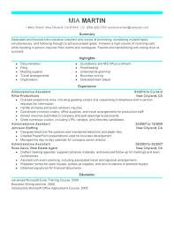 Resume For Administrative Assistant Create My Career Objective Examples