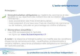 declaration auto entrepreneur chambre des metiers du travailleur indépendant ppt télécharger