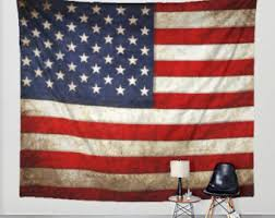 American Flag Tapestry Distressed Fabric Art Print Wall Hanging