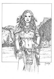 Medicine Woman By MitchFoust On DeviantART Coloring SheetsAdult