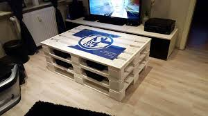 Personalized White Painted Pallet Coffee Table