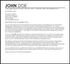 Cover Letter Examples With Class Experience Free Corporate Trainer Templates Coverletternow Template